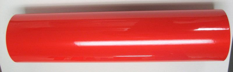 "24"" x 6 foot Red Reflective Film"