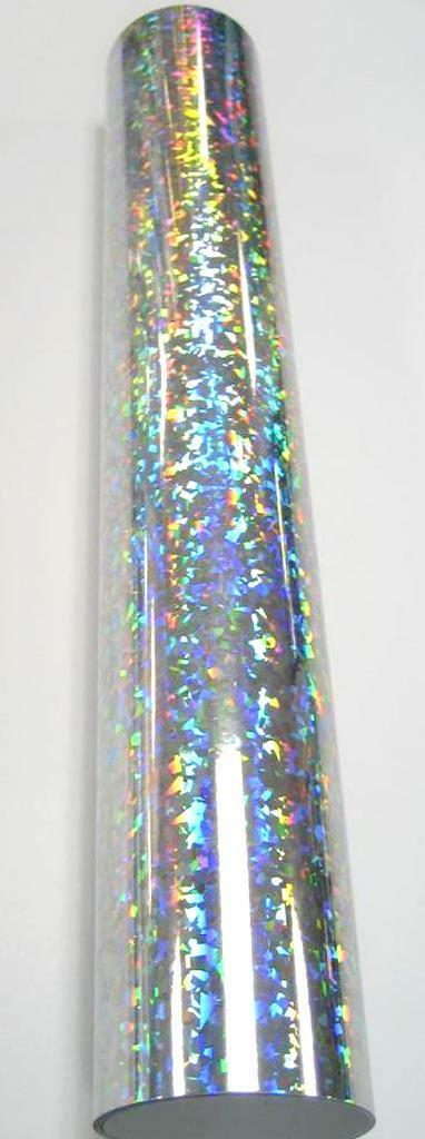 "24"" x 10 foot Holographic Silver Crystal"
