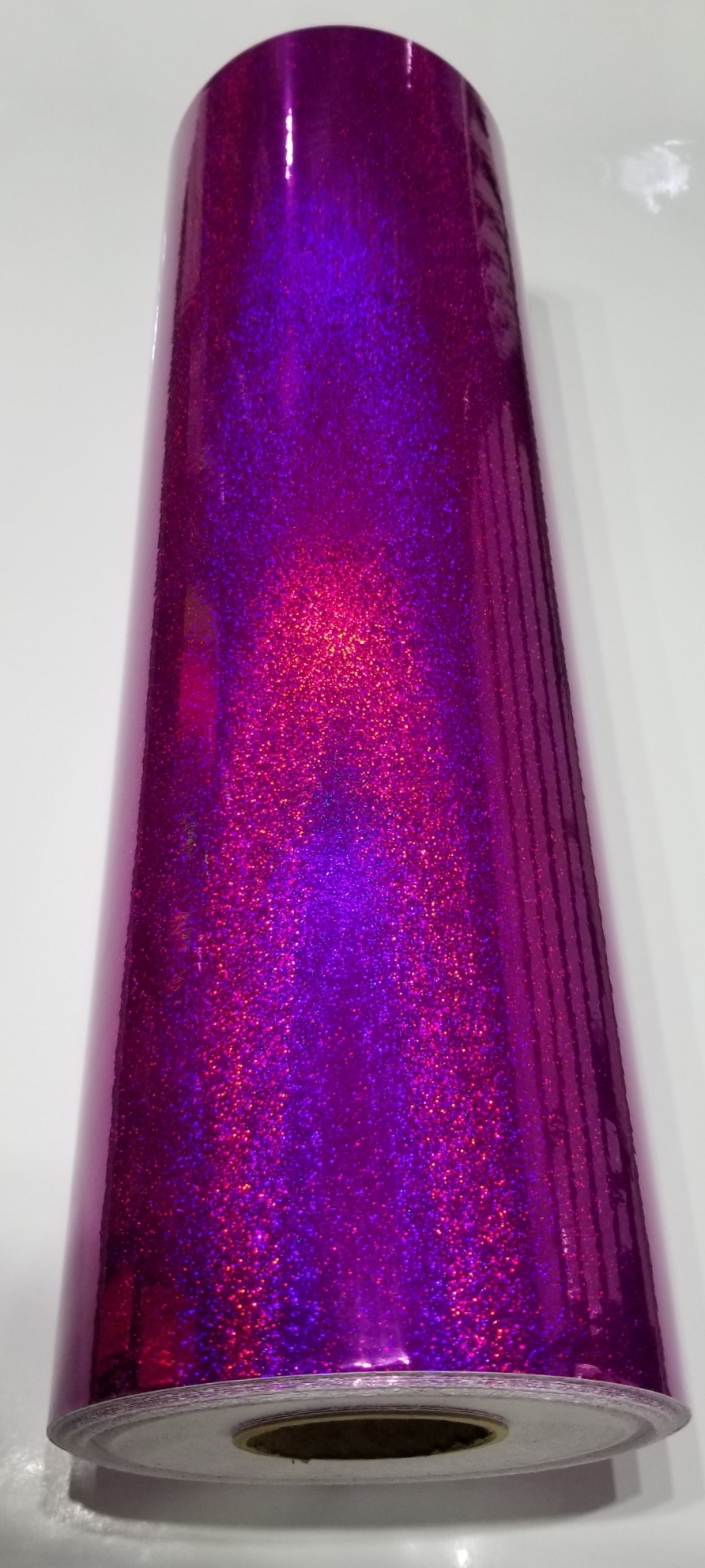 "24"" x 30 foot Holographic Purple Glitter"