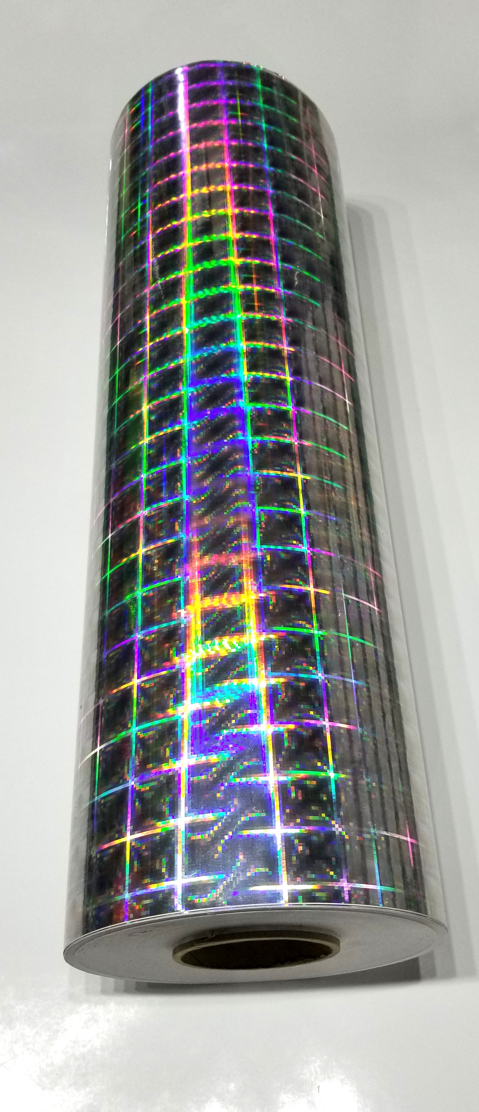 "24"" x 30 foot Holographic Silver Plaid"